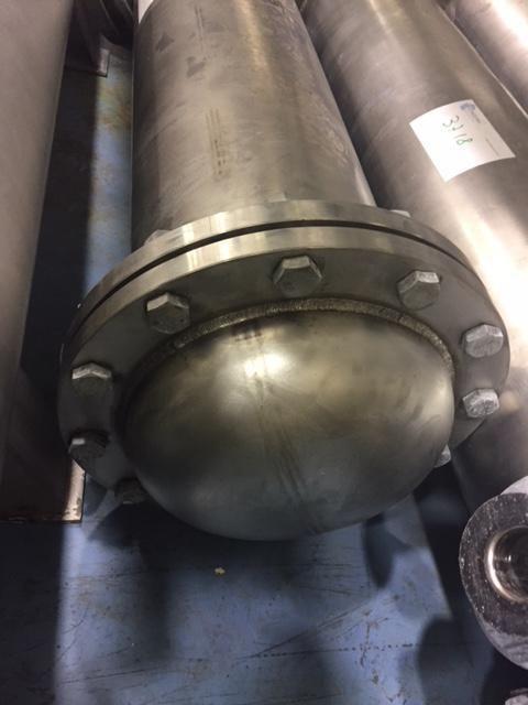 Intercambiador tubular 4 m2 acero inoxidable de segunda mano