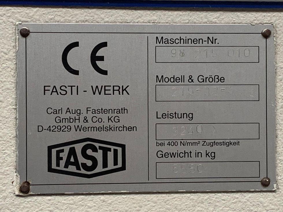 Fasti 215 CNC Folding machine 3200 x 4 mm Delem DA65 5164 = Mach4metal