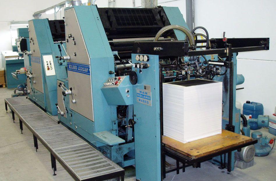 Impresión Offset Roland RVF OB