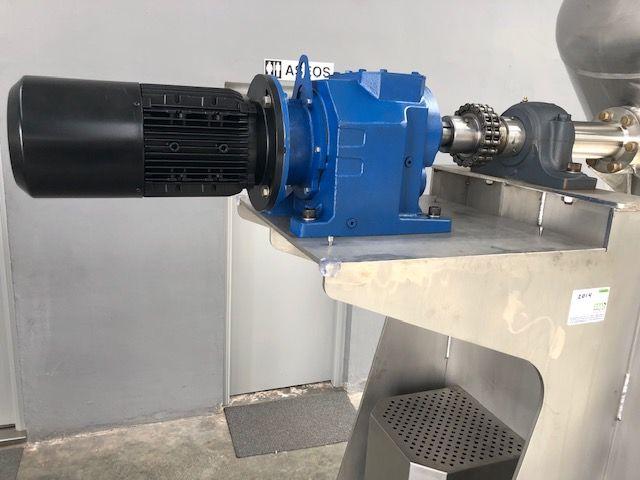 Mezclador en V con rompedor en acero inoxidable de capacidad 1.000 litros NUEVO