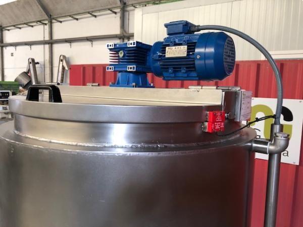 Cuece cremas 500 litros en acero inoxidable 316 con doble hélice marina NUEVO