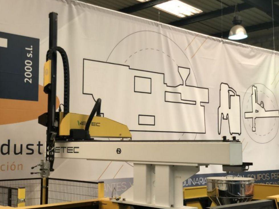 Robot cartesiano de 350 hasta 450 toneladas.