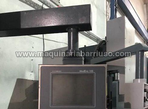 Plegadora DURMA Mod. AD-S 2040 de 2050 x 40 Tn equipada con 6 ejes y control Cybelec ModEva10S