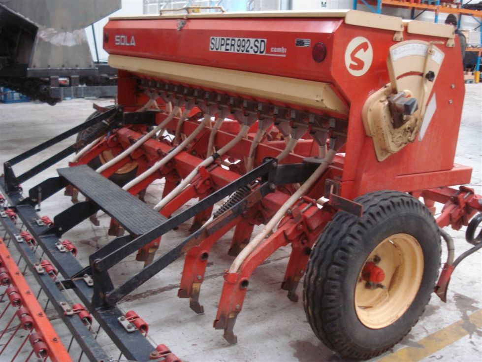 Sembradora usada de siembra directa de reja