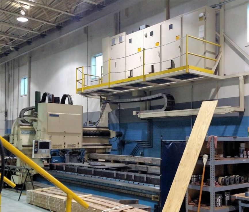 Molinos de pórtico aeroespacial y perfiladores CNC