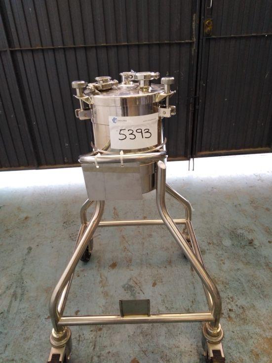 Deposito acero inoxidable 316l 15 litros de segunda mano