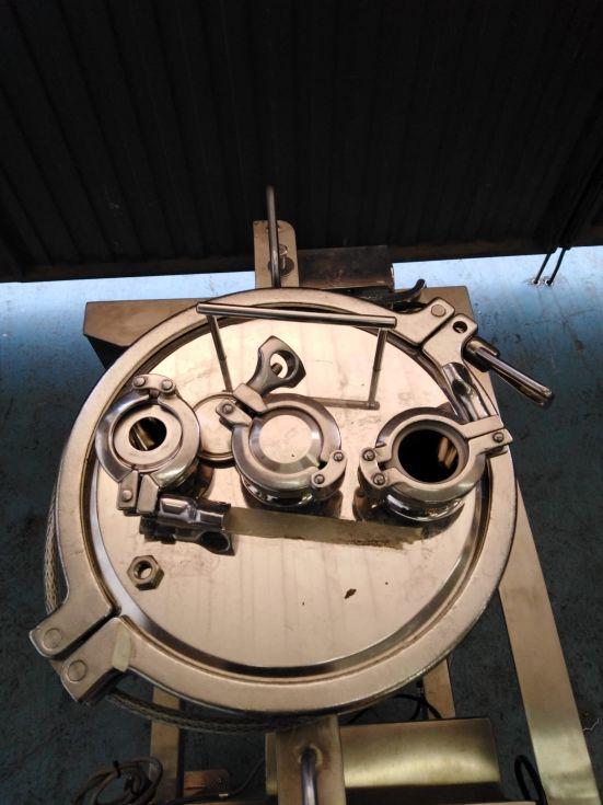 Deposito acero inoxidable 316l 8 litros de segunda mano