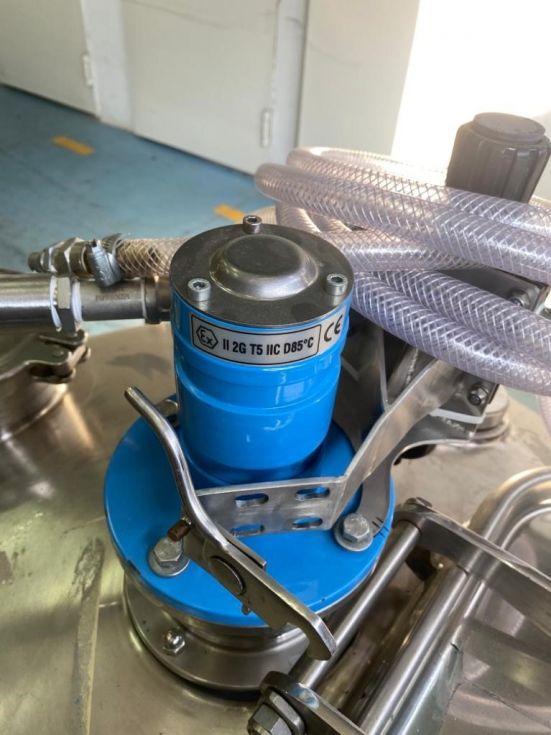 Reactor procip acero inoxidable 230 litros con camisa y agitacion de segunda mano