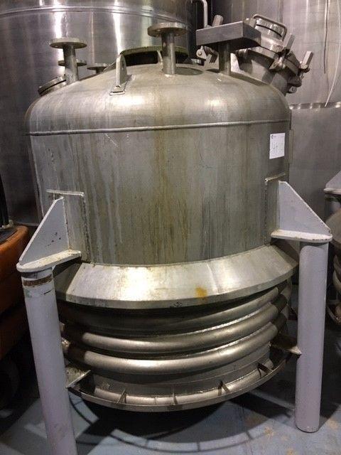 Reactor cpq 1.875 litros acero inoxidable con media caña de segunda mano