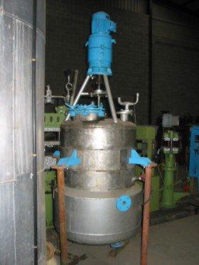 Reactor Inox Con Doble Fondo y Presión