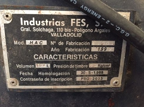 Compresor Calderin ±100 Litros