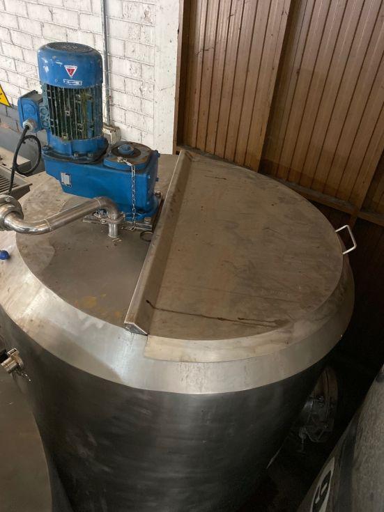 Deposito acero inoxidable 1.000 litros con camisa, agitación y calorifugado hermético