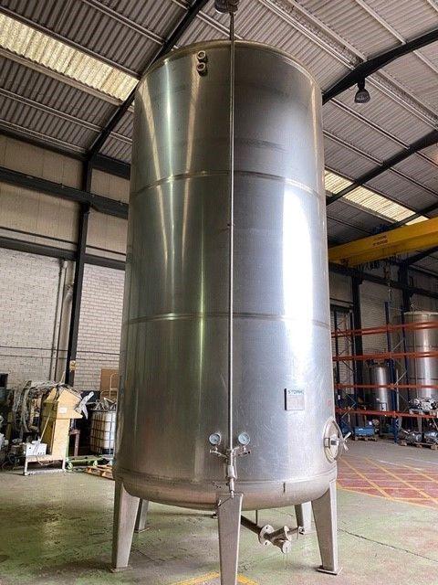 Depósito aséptico acero inoxidable 316l 25.000 litros de segunda mano