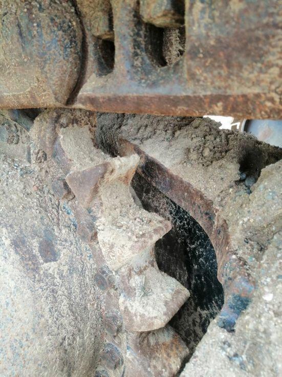 excavadora de cadenas