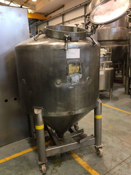 Deposito acero inoxidable 1.300 litros de segunda mano