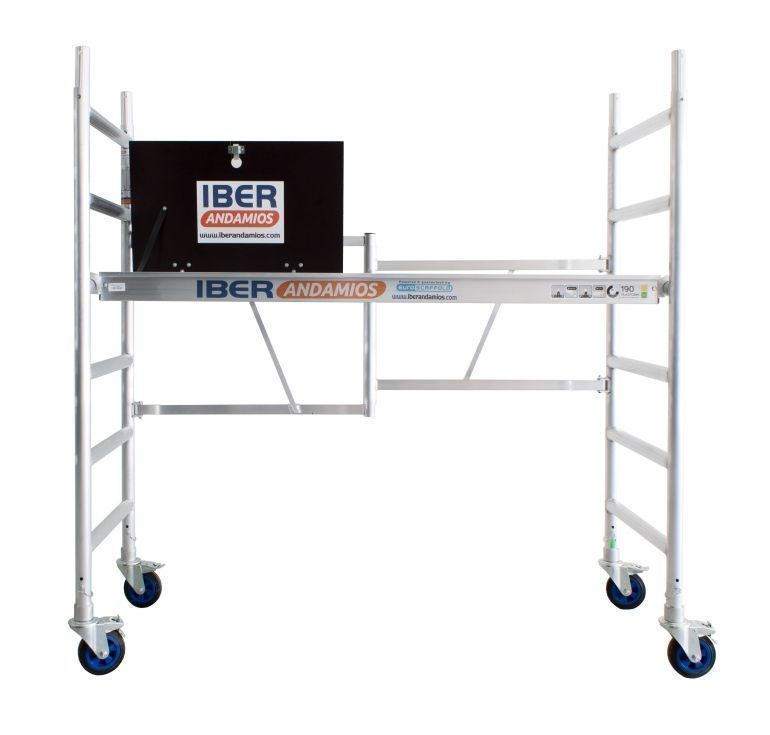 Andamio plegable de aluminio CT26 con plataforma con trampilla altura trabajo 3 metros