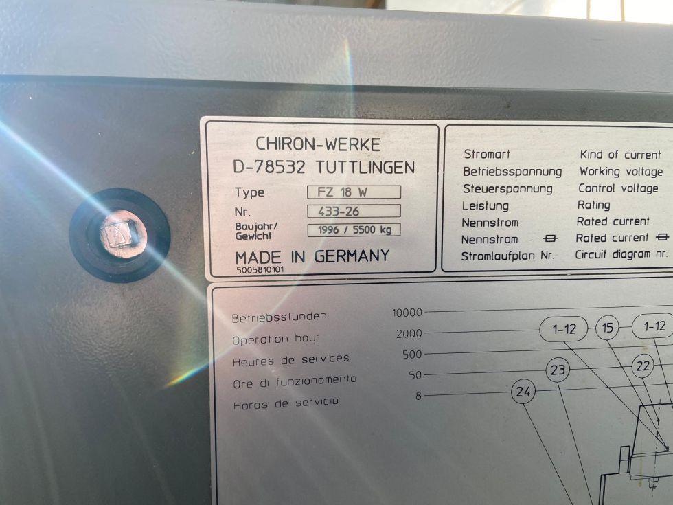 Chiron FZ18W MAGNUM high speed 630 x 400 x 425 mm 5417 = Mach4metal