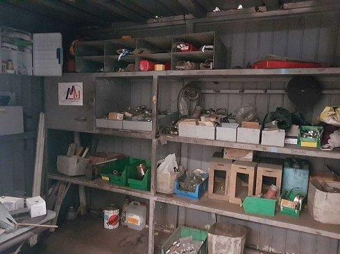 Caseta metálica almacén