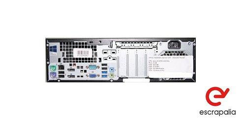 ENVÍO INCLUIDO. Ordenador HP Elitedesk 800 G1 SFF con i7-4770, 8Gb de Ram y 500Gb de HDD. LOTE 5