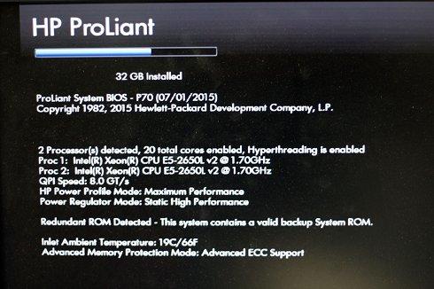 Servidor HP DL380p G8 con Dos DecaCore y 32gb de Ram + 4 Discos 300 Gb