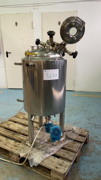 Reactor acero inoxidable 70 litros con agitacion magnetica de segunda mano