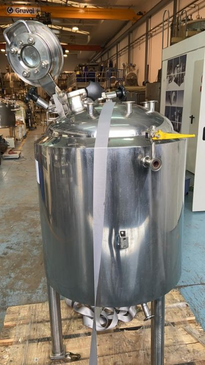 Reactor tankki acero inoxidable 180 litros con camisa de segunda mano