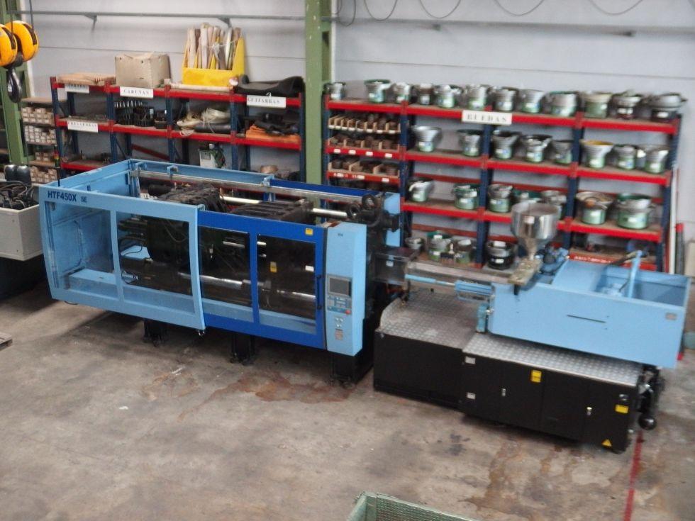 Inyectora termoplástico 450 ton