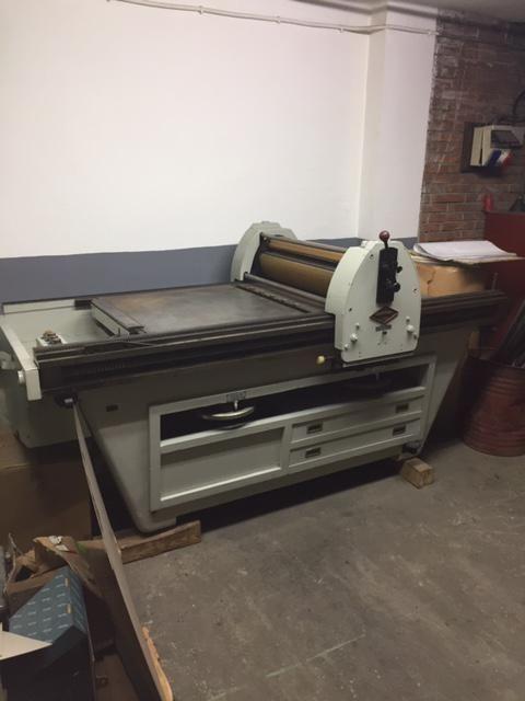 Prensa litográfica a motor