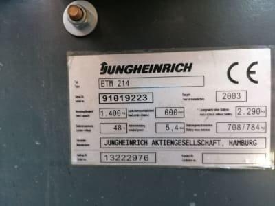 JUNGHEINRICH ETM 214 Reach Truck