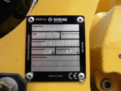 BOMAG BVP 10/36 Vibratoy Plate
