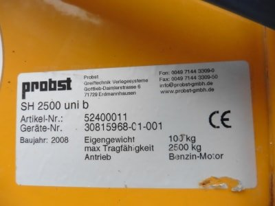 PROBST SH-2500 Uni Vacuum Lifting Device