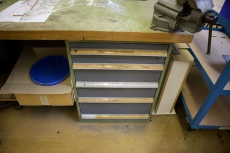 Banco de trabajo SPIRAL with Pull-Out Drawer Cabinet and Vice