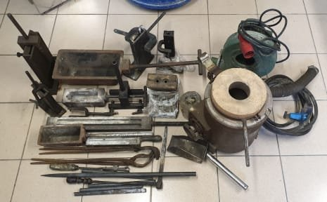 Lot Of Tools For Melting Furnace