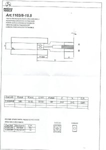 RESCO 1103/8-15 Milling Tool