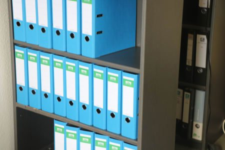 2 Open Filing Cabinets