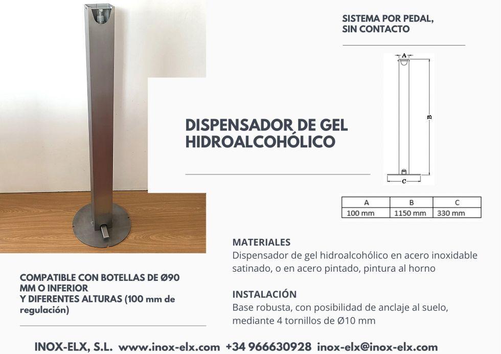 Dispensador gel hidroalcohólico