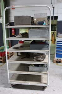 Shelf Trolley/Workshop Trolley with Contents