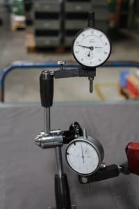 2 Magnetic Dial Gauge Holders with Dial Gauges