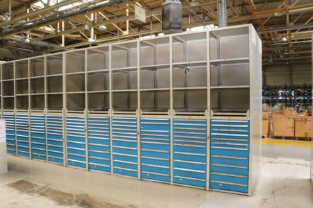 Block of 6 raw cabinets
