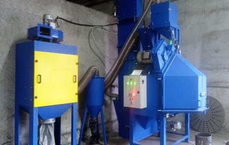 Máquina de granallado de mesa giratoria BLAST ENGINEERING SBRT-100