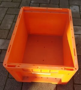 Contenedor industrial 144 small without lid, approx. 300 x 400 x 200 mm