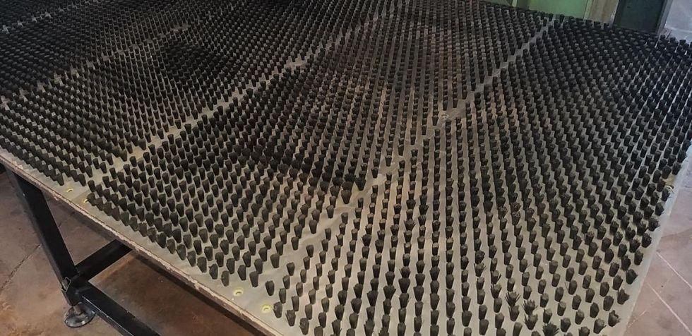 Mesa de cepillos