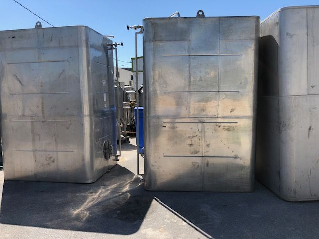 Depósito 7.100 litros contenedor en acero inoxidable 316