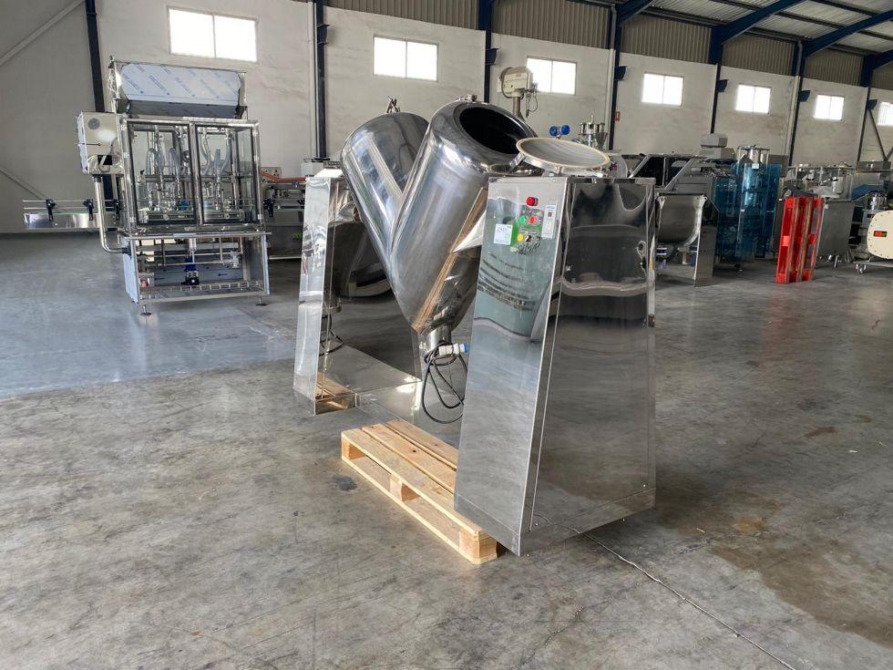Mezclador en V 300 litros en acero inoxidable brillo ocasión