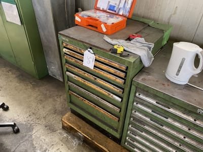 LISTA Drawer cabinet with contents