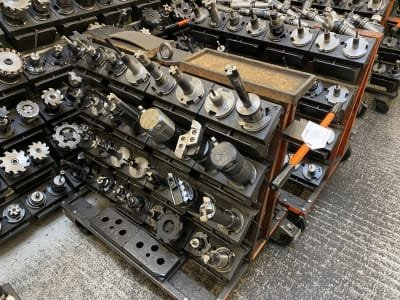 Tool trolley with SK 50 tool holders