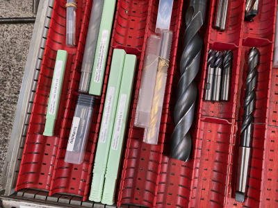 Lot of drills and milling cutters