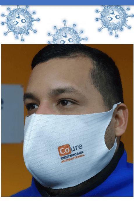 Mascarilla Reutilizable Antibacterial -Antihongos de Cobre- Hombre