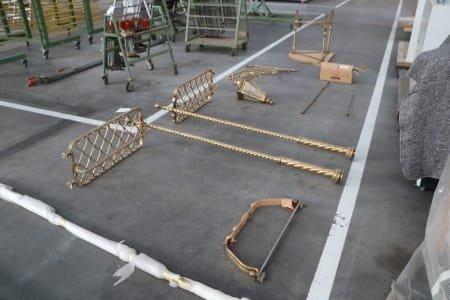 Hand-forged wardrobe solid brass