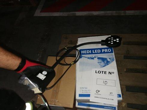 3 Lámparas  LED para mesa de trabajo (24Vac-dc/9W) (L. 10)